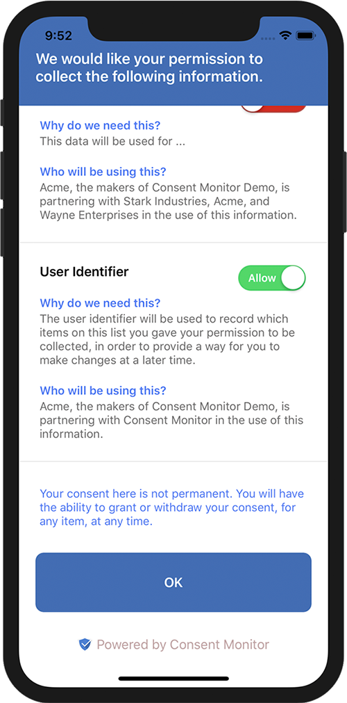 Consent Monitor iOS SDK